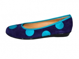 Zinnia Spotty Dotty in Purple and Turquoise